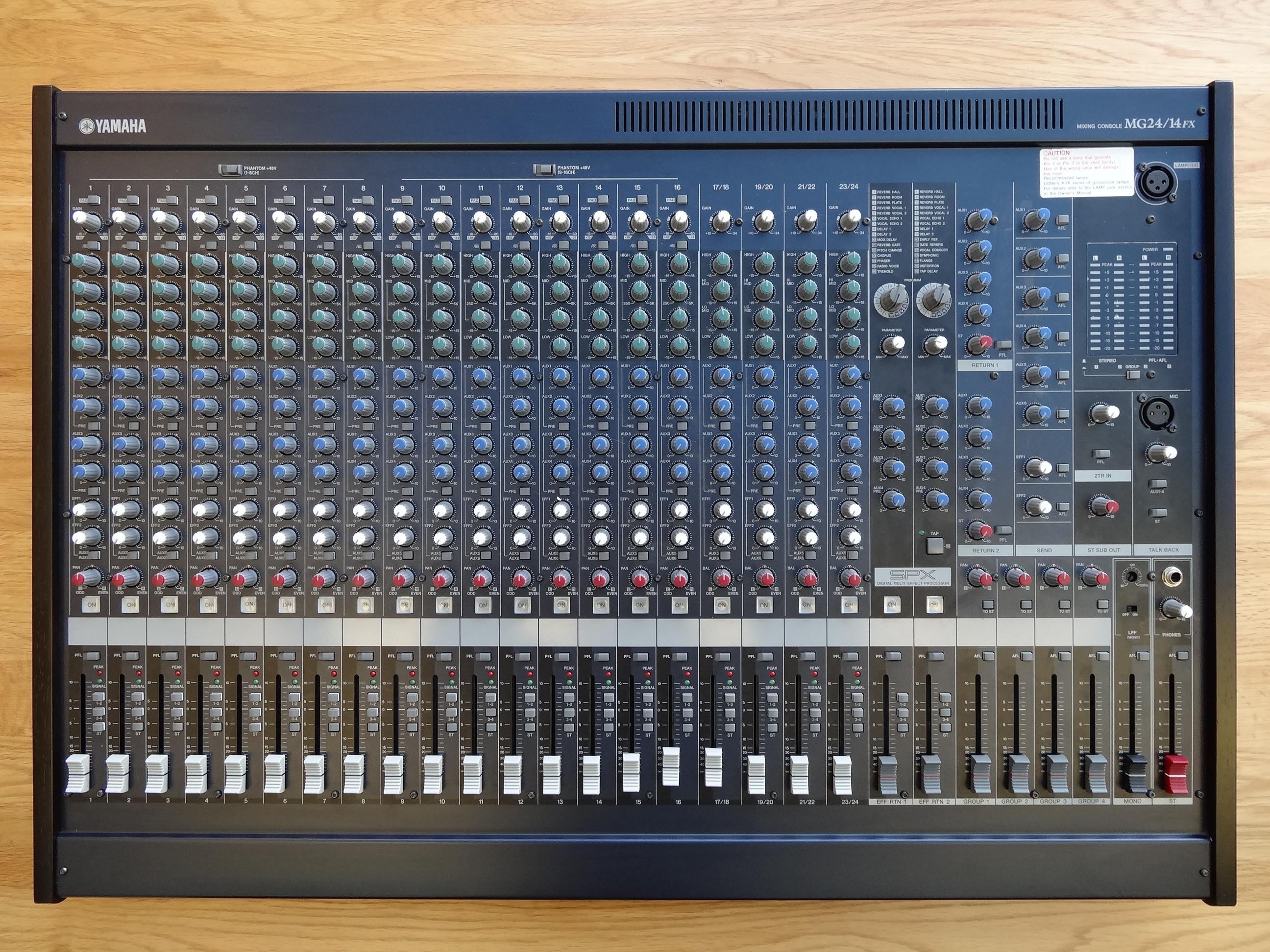 Yamaha Mg Mixer Manual