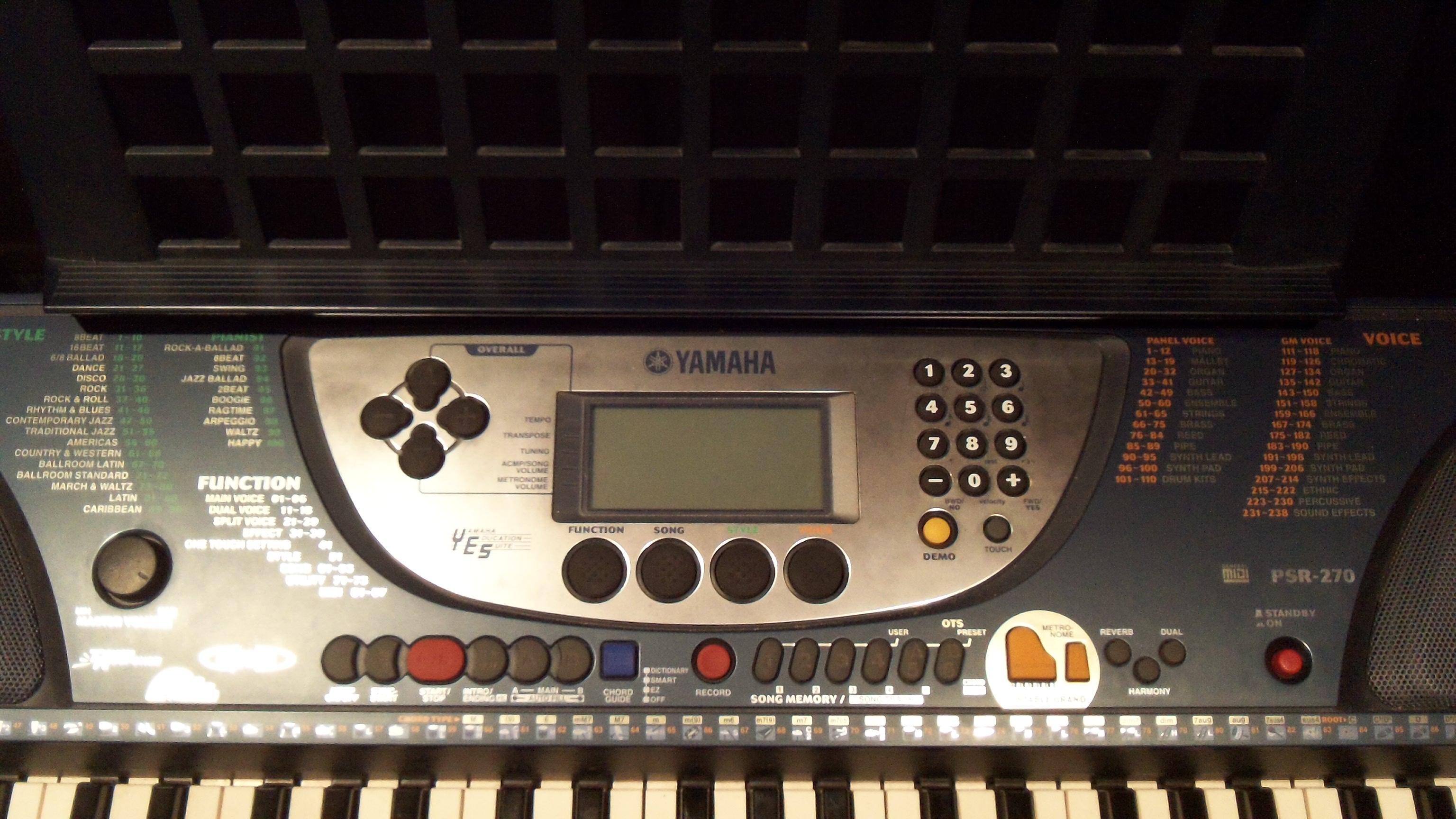 yamaha psr 270 image 1078554 audiofanzine rh en audiofanzine com yamaha psr-270 specifications yamaha psr-270 keyboard manual