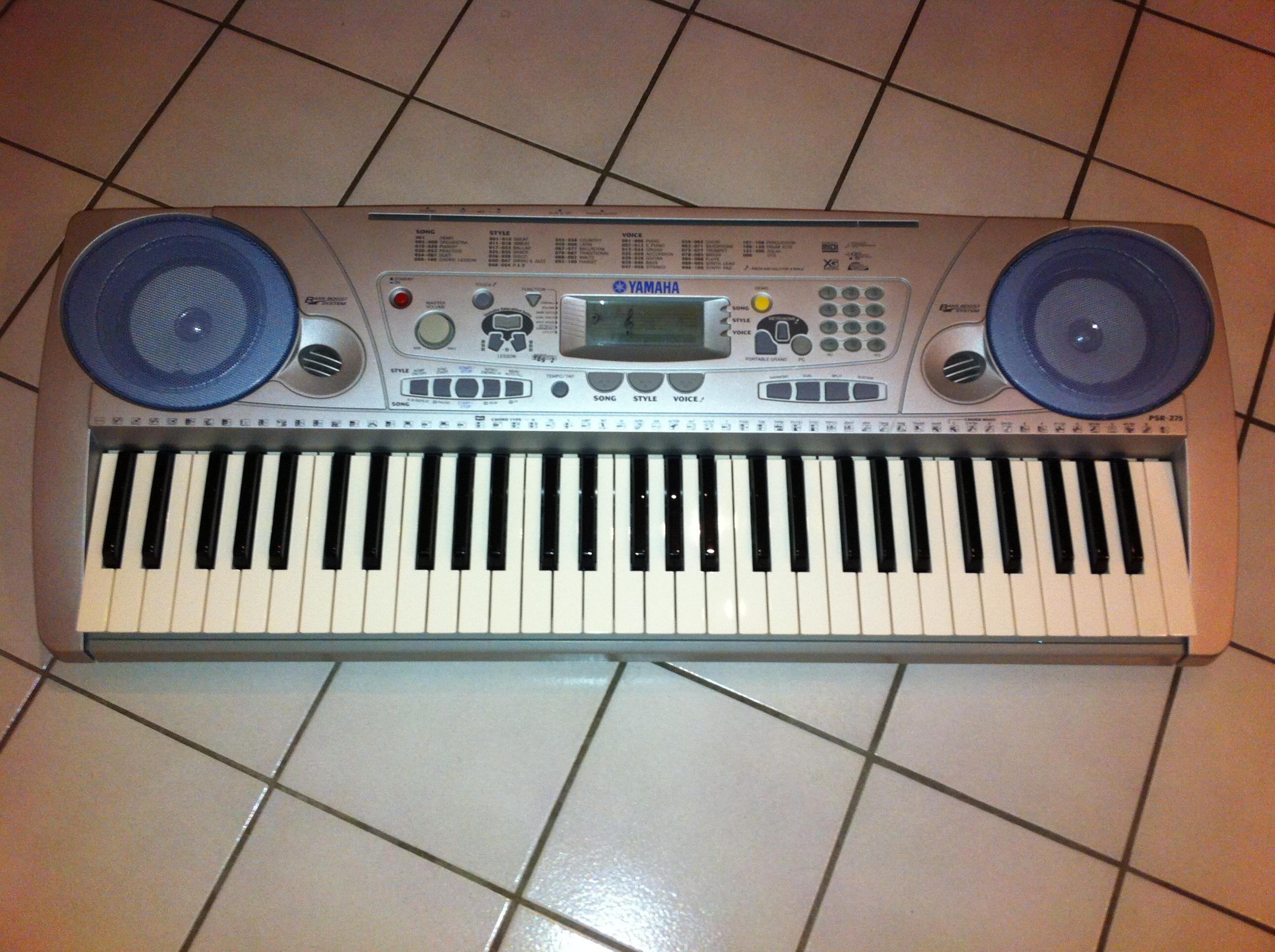 yamaha psr 275 image 874289 audiofanzine rh en audiofanzine com Yamaha Keyboard PSR 282 Notes yamaha keyboard psr 275 user manual