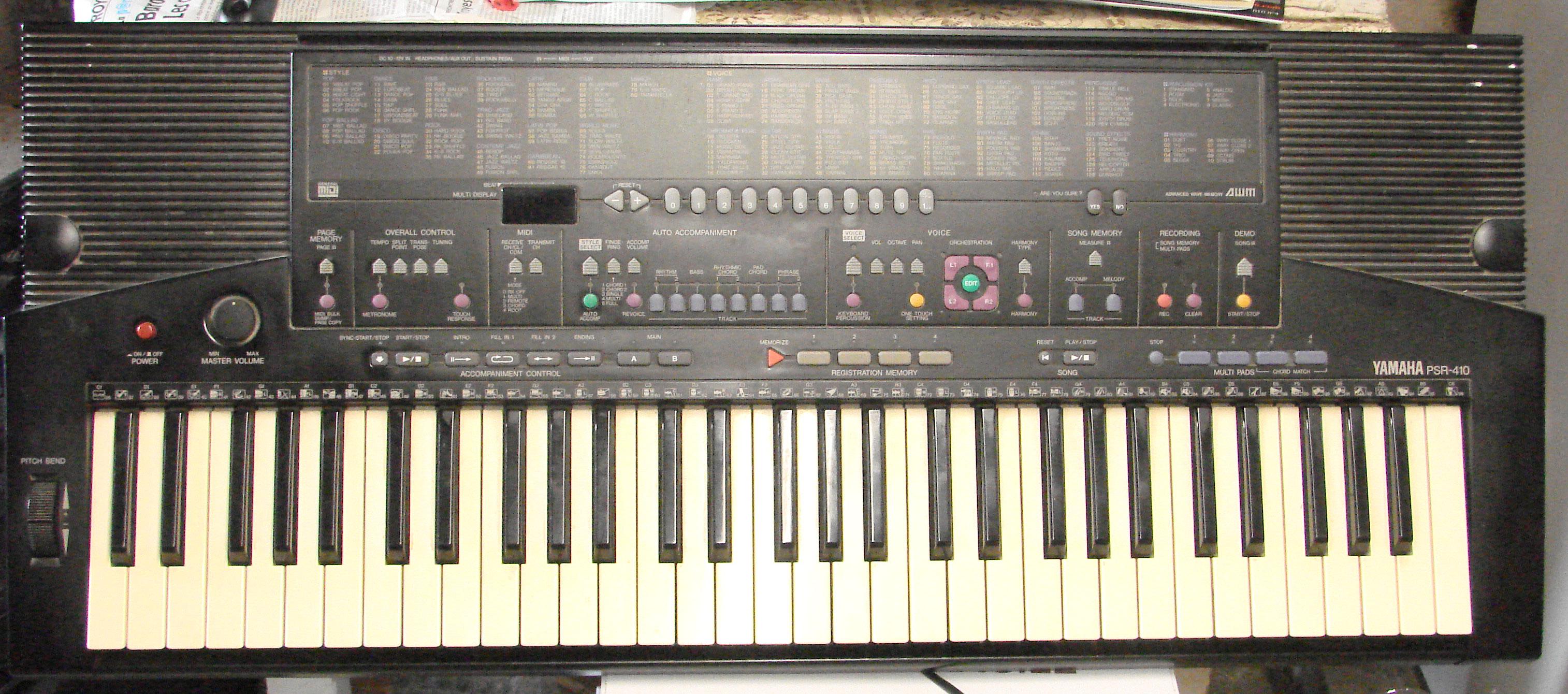 Yamaha psr 410 image 1138083 audiofanzine for Yamaha psr 410 keyboard