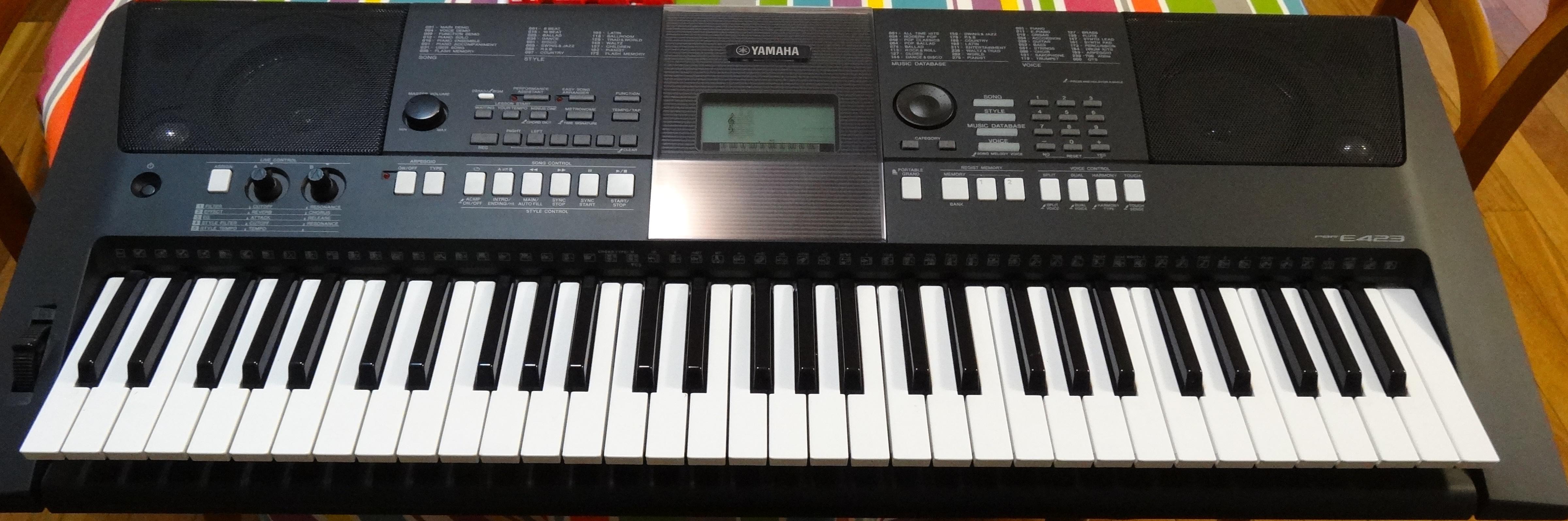 Yamaha psr e423 инструкция