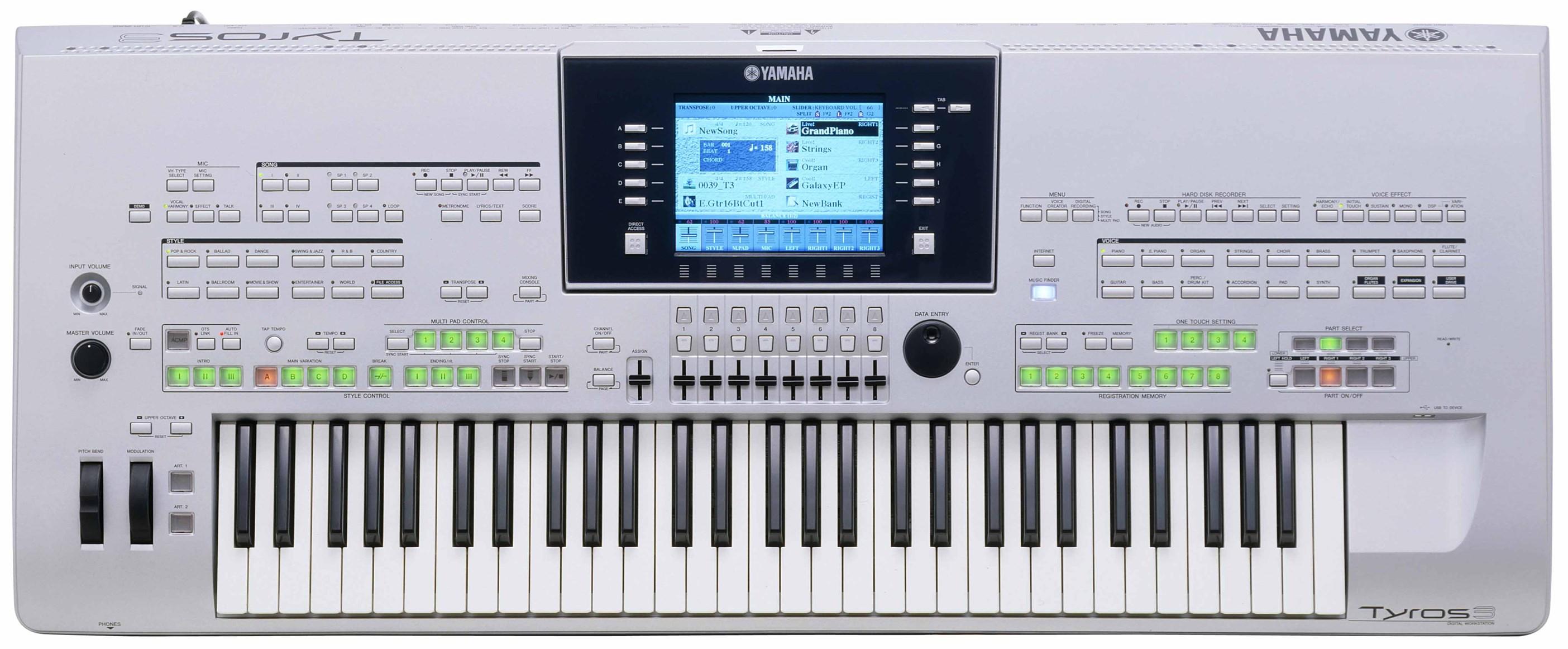 Yamaha Tyros 3 Workstation Synthesizer