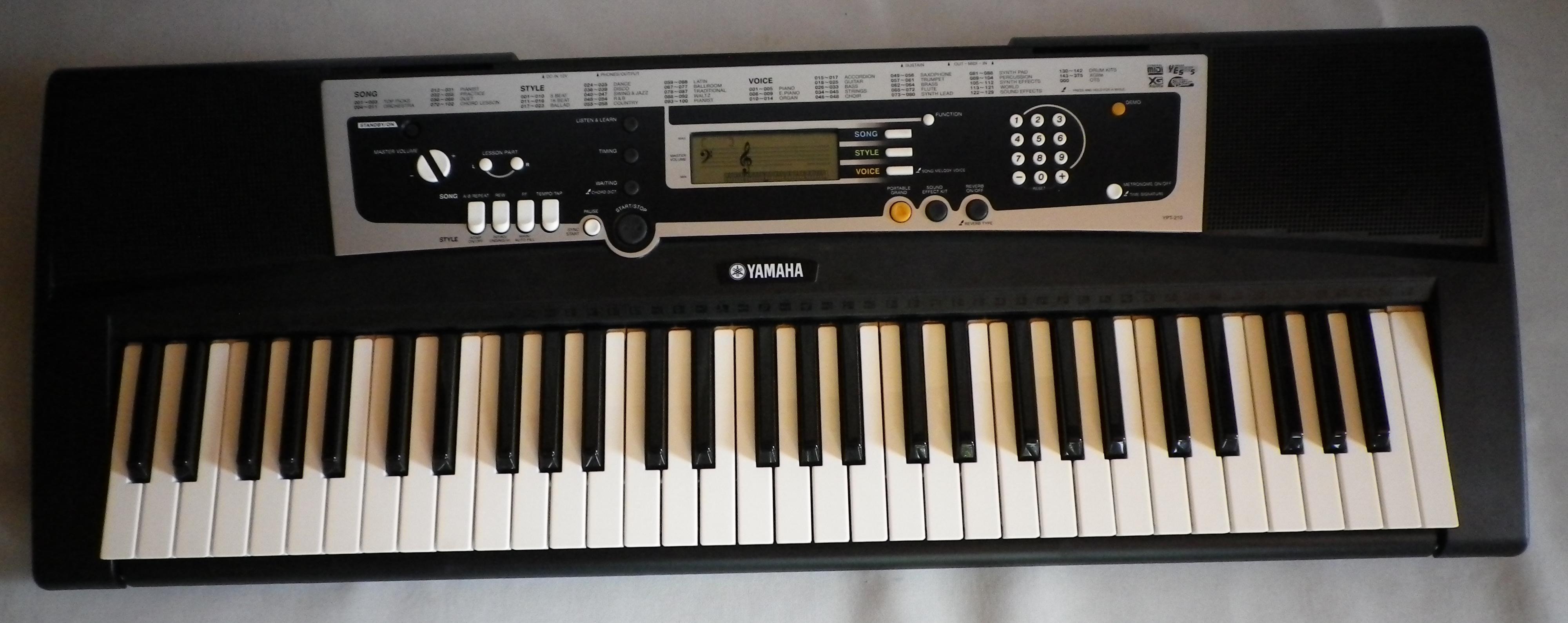 Yamaha ypt 210 image 264039 audiofanzine for Yamaha ypt 210 manual