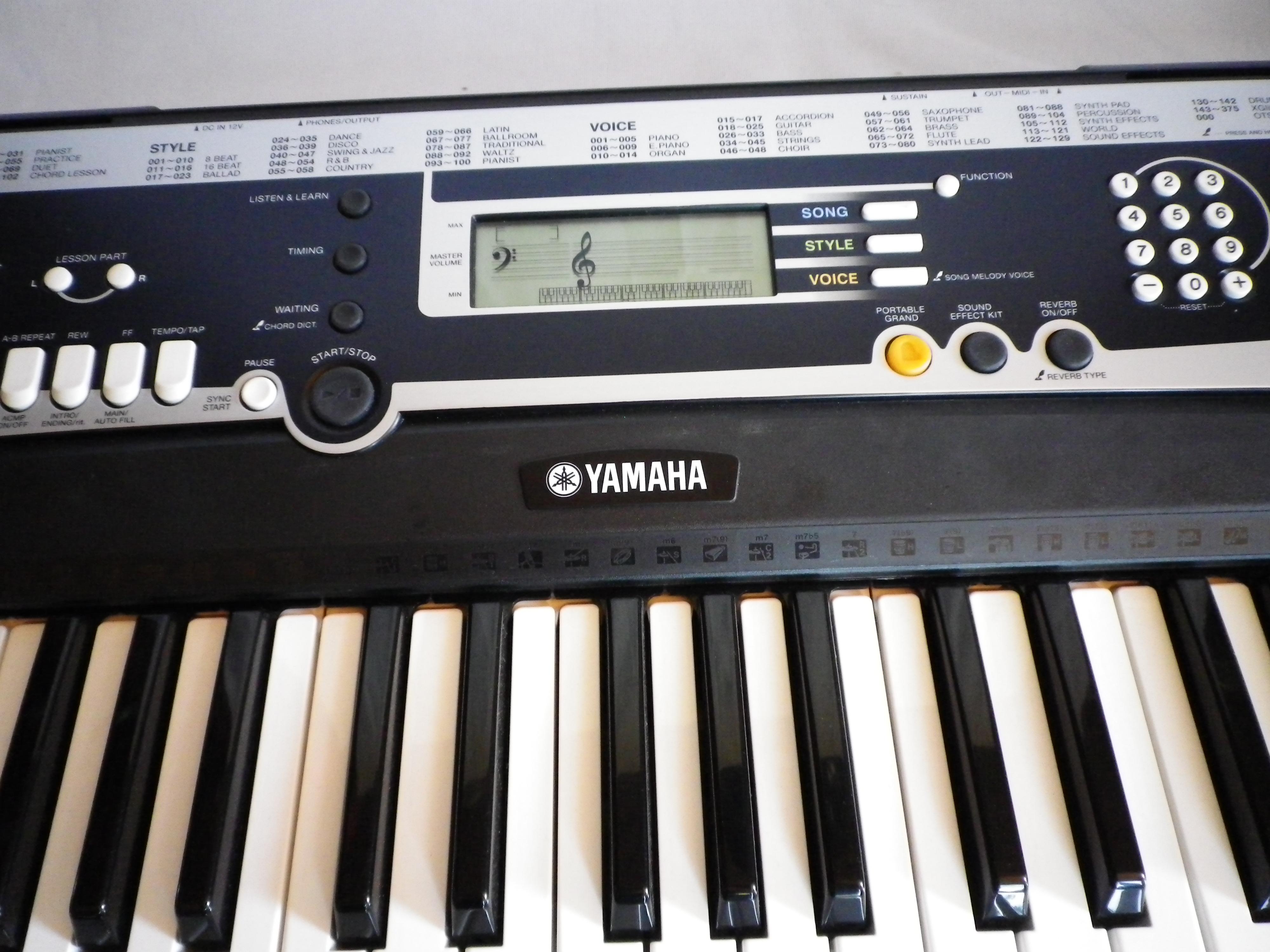 Yamaha ypt 210 image 264040 audiofanzine for Yamaha ypt 210 manual