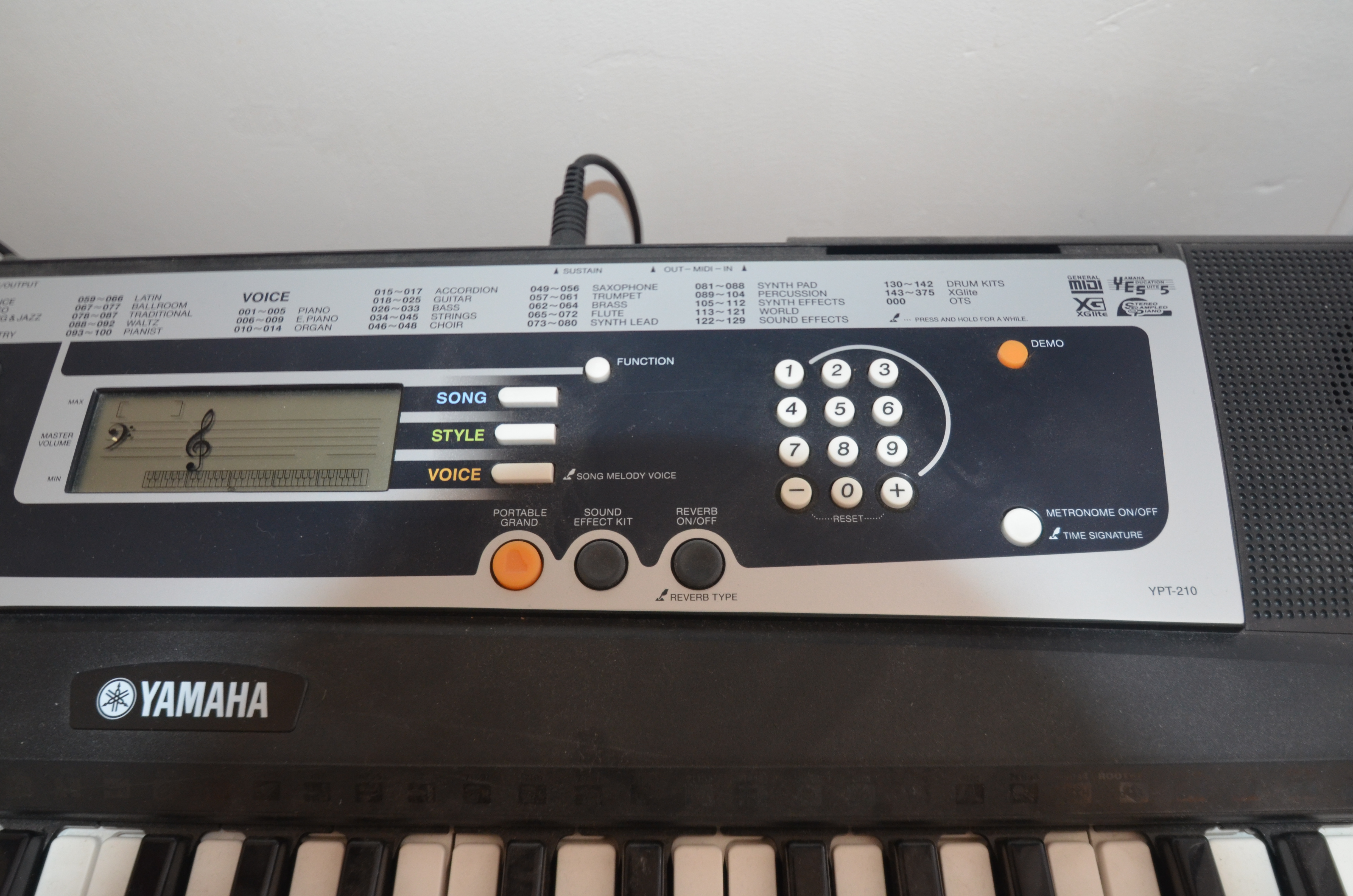 Yamaha ypt 210 image 712019 audiofanzine for Yamaha ypt 210 manual