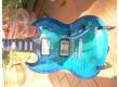 Rarissime !! GIBSON SG CARVED TOP Oean Blue Burst Série limitée