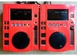 2 X PIONEER CDJ-100S TBE avec COQUES ROUGE BRISTA FACE NEUF