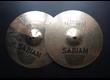"SABIAN Hand Hammered Bright Hats 14"" finition brillante très bon état"