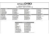 Roland PN-D50-00 (32417)