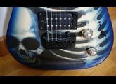 Az By Wsl Guitars blue skull