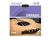D'Addario EXP Coated Phosphor Bronze Acoustic Bass