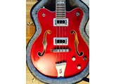 Gretsch G5442BDC Electromatic Hollow Body Short Scale Bass - Transparent Red