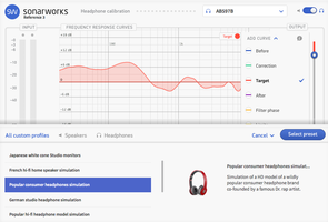 Sonarworks Headphone Calibration