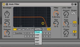 Ableton Push 2 : filtre