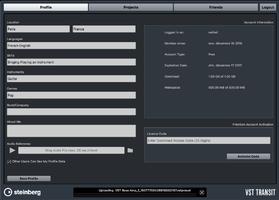 Steinberg Cubase Pro 8.5 : VST Transit Profile