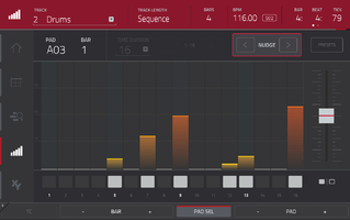 Akai MPC Touch : step sequencer
