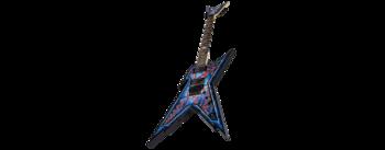 Dean Guitars Razorback DB Floyd DNA Spatter : rzrdbfdna v3