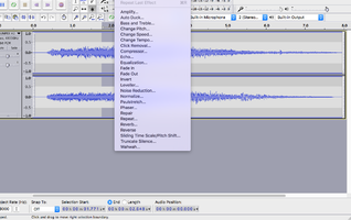 Digital Audio Editors : Audacity effects