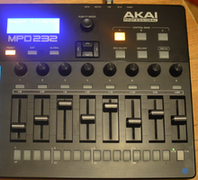 Akai MPD232 : faders