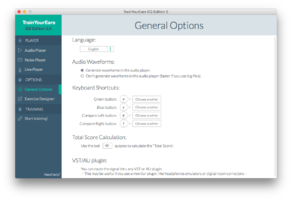 general options screenshot