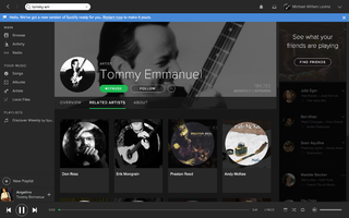 Basses : Spotify screen