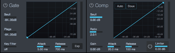 PreSonus Studio 192 : comp gate