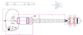 """Eastwood Guitars DEVO """"Be Stiff"""" Bass : devobassdrawing"""