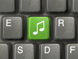 music key on keyboard 000004155869Medium
