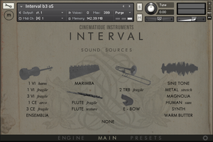 Cinematique Instruments Interval : interval instruments