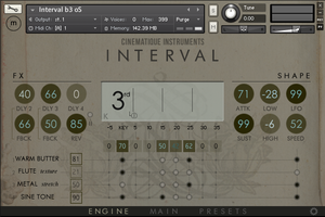 Cinematique Instruments Interval : interval engine