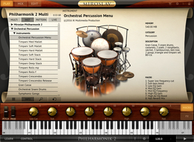 Orchestral Percussion Menu MP2 Screenshot
