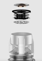 Shure KSM8 Dualdyne : Détail du système à double-capsule Dualdyne
