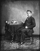 Edison et son phonographe