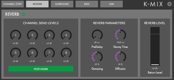 Keith McMillen Instruments K-Mix : Reverb