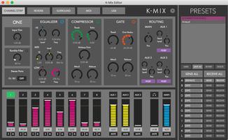 Keith McMillen Instruments K-Mix : K-Mix Channel Strip