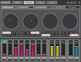 Keith McMillen Instruments K-Mix : Gestion du surround dans l'éditeur K-Mix