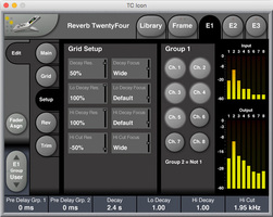 tc electronic reverb twentyfour controls screenshot grid and group setup