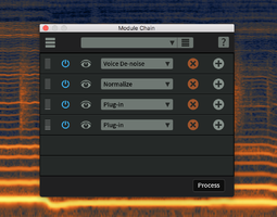 iZotope RX 6 Standard : chainer
