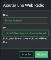Volumio Page 2.6 Add infos France Musique