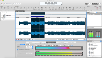 Magix Sound Forge Pro Mac 3 : interface