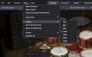 Toontrack Superior Drummer 3 : resize