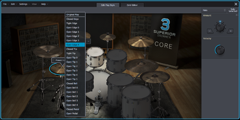Toontrack Superior Drummer 3 : editplaystyle