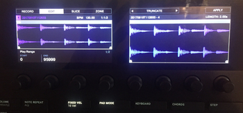 Native Instruments Maschine mk3 : forme d'ondes