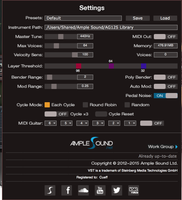 Ample Sound Ample Guitar Full Bundle : Settings