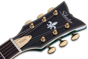 Schecter Coupe : COUPE GREEN HEADSTOCK