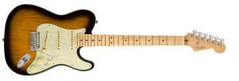 Fender The Strat-Tele Hybrid : Limited Edition Strat Tele Hybrid, 2 Color Sunburst 3