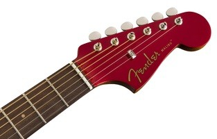 Fender Malibu Classic : California Series Malibu Classic   Hot Rod Red Metallic 2