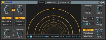 Ableton Live 10 Suite : echo