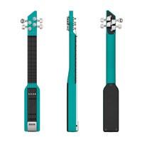 Dulcie Dulcie Résine : dulcie pocket guitare electrique couleur vert canard resine