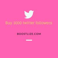 buy 3000 twitter followers